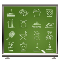 household objects and tools icons vector image vector image