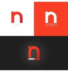 letter N logo design icon set background vector image vector image