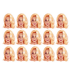 portraits of beatuful woman with blonde hair vector image