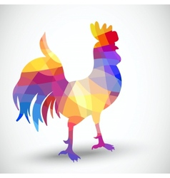 Abstract rooster of geometric shapes vector image