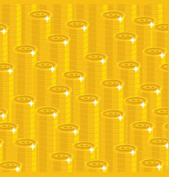 bitcoin stack seamless pattern vector image