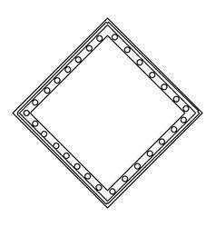 Board frame geometric decoratin ornament outline vector