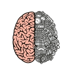Brain machinery icon for business science design vector image