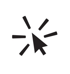 click icon on white background click sign vector image