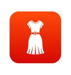 dress icon digital red vector image