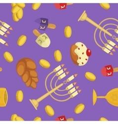 Hanukkah seamless pattern vector image