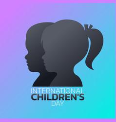 international childrens day logo icon design vector image