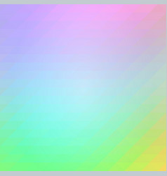 light rainbow rows of triangles background square vector image