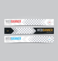 set of horizontal web banners with place for vector image vector image
