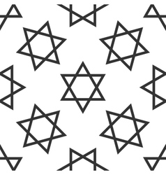 Star of David icon pattern on white background vector image vector image