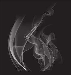 Steam on black background vector