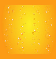 yellow drops of orange juice or beer bubbles vector image