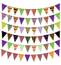 Halloween Bunting Banner Collection vector image
