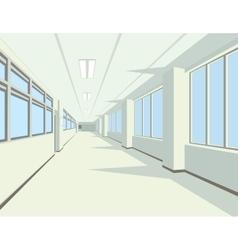 Interior of school or college hall vector image