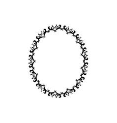 vintage border frame swirl decoration romantic vector image