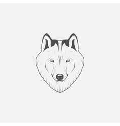 Wolf icon in grayscale vector image vector image