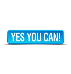 Yes you can blue 3d realistic square isolated vector