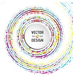Abstract spiral background with colorful circles vector image