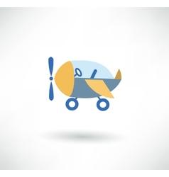 airplane symbol vector image
