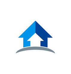 arrow up logo vector image