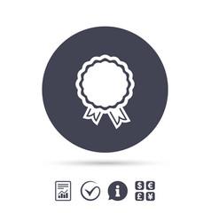 Award icon best guarantee symbol vector