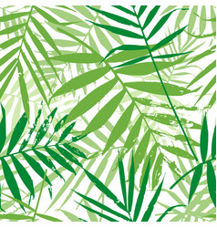 greenery palm leaves seamless pattern vector image