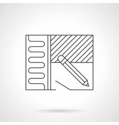 Home renovation plan flat line icon vector image vector image
