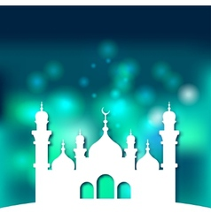 Mosque Islamic background vector image vector image