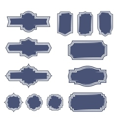 Set of vintage frame badges and labels vector image vector image