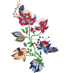 Traditional flower vector image vector image