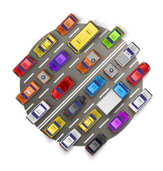 traffic jam art banner vector image vector image