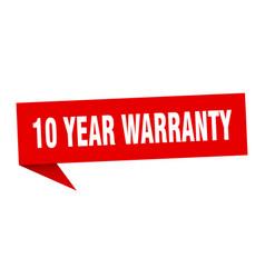 10 year warranty vector