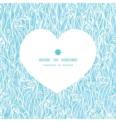Abstract frost swirls texture heart silhouette vector