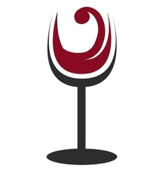 abstract glass of wine graphic vector image