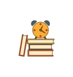 Alarm Clock On Books vector