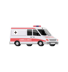 ambulance car with a siren medical transport in vector image