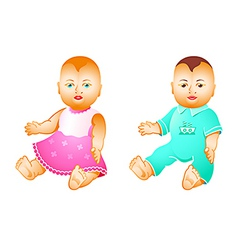 baby dolls vector image