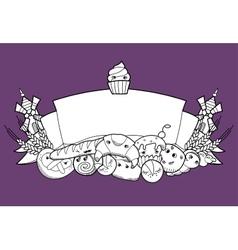 Bakery ribbon vector image