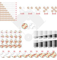 Baseball infographics vector