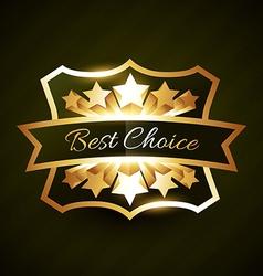 Best choice label design with stars burst vector