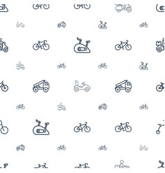 bicycle icons pattern seamless white background vector image