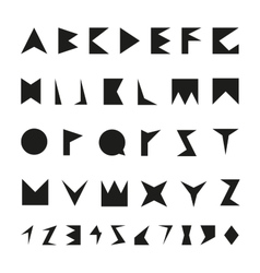 Black font with numbers vector