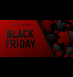 black friday sale web horizontal banners black vector image