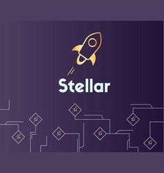 Blockchain stellar style payment virtual vector