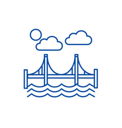 bridgesan francisco line icon concept bridgesan vector image