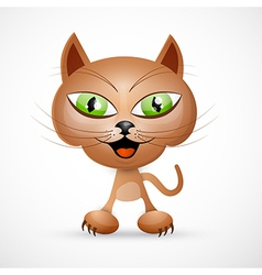 Brown Cat vector image