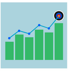 Business success growth graph vector