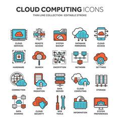 Cloud computing internet technology online vector
