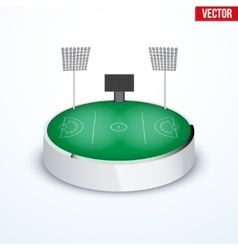 Concept of miniature round tabletop lacrosse vector image
