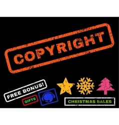 Copyright Rubber Stamp vector image vector image